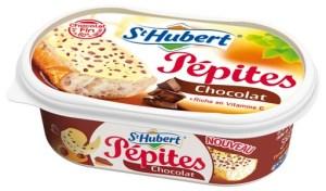 Margarine St Hubert Pépites de chocolat225g. PVC 2,10€