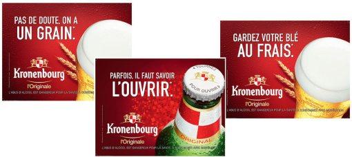 La nouvelle campagne de Kronenbourg imaginée par l'agence La chose est en presse depuis fin mai et en affichage depuis début juin.