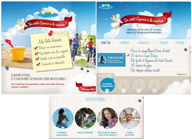 Du 15 août au 15 septembre, Caprice des Dieux permet aux consommateurs de gagner sa liste d'envies.