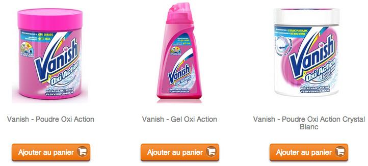 """Associé à Clic2buy, Vanish a inauguré en juillet la première campagne publicitaire facebook avec un bouton """"acheter""""."""