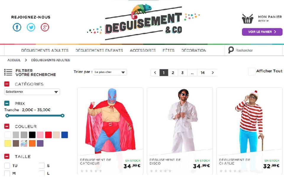 Déguisement & Co regroupe l'offre de déguisements de Kiabi.com au même prix.