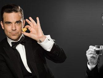 Robbie Williams carbure au Café Royal