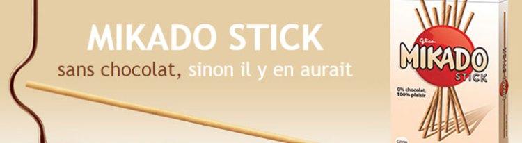 Mikado Stick s'affiche dans le métro parisien.