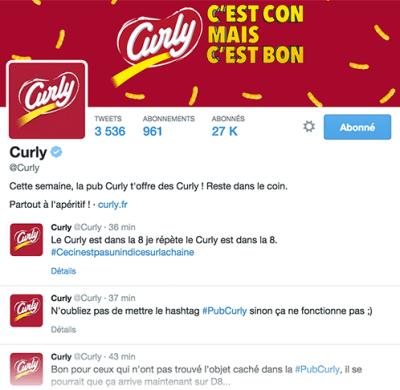 """Les Community manager de Curly animeront la communauté de 27 000 followers et 600 000 fans à l'aide d'indices pour identifier les """"objets cons""""."""