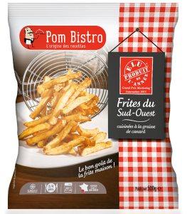Pom Bistro est la marque de Cité gourmande (Groupe Le Duff) présente en GMS et spécialisée dans les plats cuisinés à base de pomme de terre surgelée