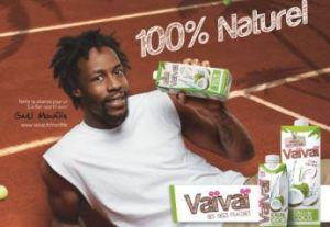 campagne d'affichage avec le tennisman Gaël Monfils