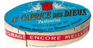 Emballage original de 1956 lors du lancement du Caprice des dieux. A l'époque les deux anges symboliques de la marque ne sont pas. Ils apparaitront plus tard, en 1964.