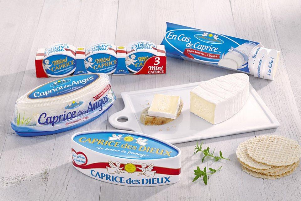 Parti d'un format 200 g la marque Caprice des dieux s'est déclinée en version familiale, mini, buche et un fromage frais.