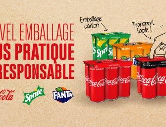 Coca‑Cola élimine le plastique de ses emballages de canettes