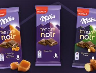 Milka se décline désormais en chocolat noir