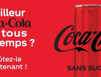Nouveau look et nouvelle recette pour Coca-Cola sans sucres