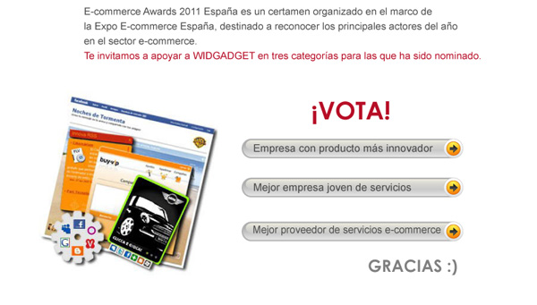 widgadget en ecommerce awards2011