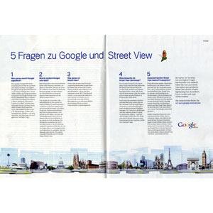 Google lanza una campaña de publicidad impresa en Alemania para allanar el camino al polémico servicio Street View