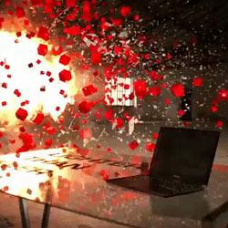 Toshiba escenifica una explosión para presentar su nuevo portátil Portégé R700