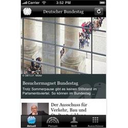 Una aplicación para el iPhone del Parlamento alemán triunfa en iTunes
