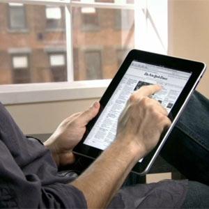 El iPad se usa preferentemente desde el sofá de casa