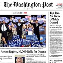 """""""The Washington Post"""" inserta por primera vez publicidad en su portada"""