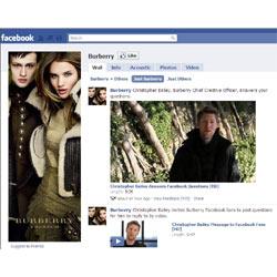 Burberry es la marca de lujo con más fans en Facebook