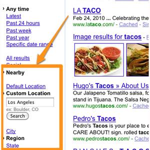 Google se centra en la geolocalización para sus búsquedas