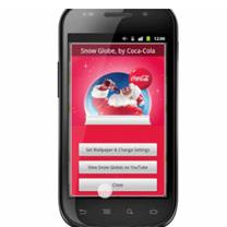 Coca-Cola y su campaña de publicidad interactiva en el fondo de pantalla de Android