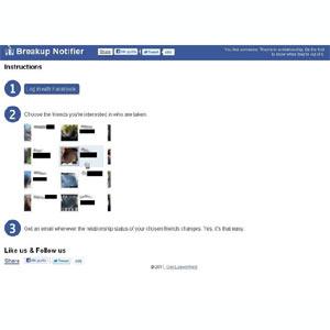 Breakup Notifier: la aplicación que te avisa de las rupturas de tus amigos en Facebook