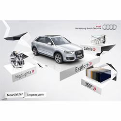 El nuevo Audi Q3 hace también su puesta de largo en iPhone y Android