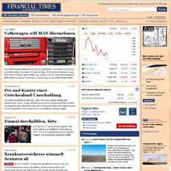 """La edición online de """"Financial Times Deutschland"""" hace pasar a sus lectores por caja"""