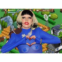 Lady Gaga se enfunda el traje de granjera y presenta su nuevo disco en Farmville