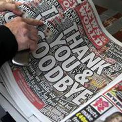Las asociaciones benéficas se anunciaron gratis en el último número de News of the World