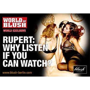 """Una marca de lencería se burla de Rupert Murdoch en una """"sugerente"""" campaña publicitaria"""