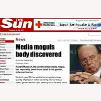 """Un ciberataque al diario """"The Sun"""" que da por muerto a Murdoch colapsa la red"""