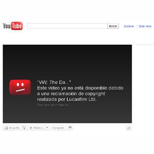 """Lucasfilm bloquea el canal de Greenpeace en YouTube tras la parodia del spot """"The Force"""" de Volkswagen"""