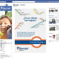 My Trip Map, nueva aplicación de Iberojet para Facebook que permite crear un mapa personalizado de viajes