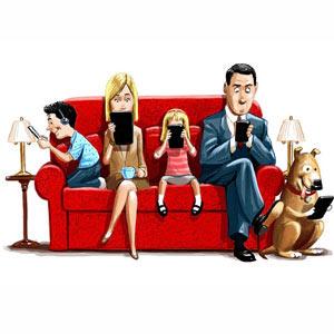 Los smartphones y las tabletas no ponen la zancadilla a la televisión