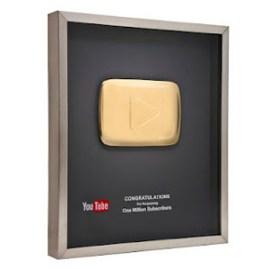 YouTube crea un botón 'play' de oro en los vídeos para premiar a sus mejores partners