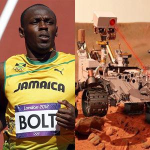 Usain Bolt vs. Curiosity: el hombre gana a la máquina en las redes sociales