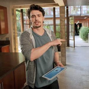 El actor James Franco tiene mil manos en un nuevo anuncio de Samsung