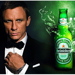El patrocinio de Heineken para James Bond puede haber sido una grandísima pérdida de dinero