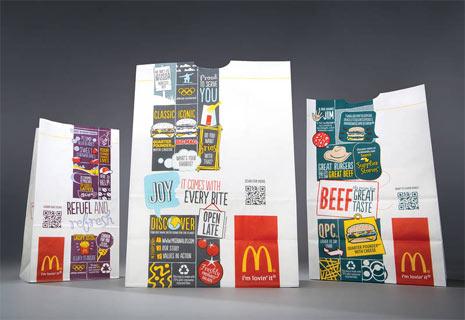 McDonald's le hace un lavado de cara a su packaging y añade códigos QR