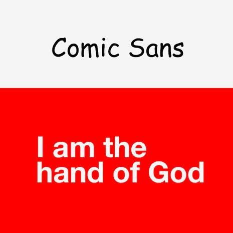 14 tipografías y 14 mensajes subliminales diferentes