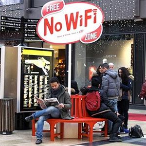 Kit Kat crea zonas libres de wifi para que la gente se tome un respiro de internet