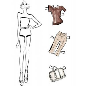 Louis Vuitton sustituye a las modelos de carne y hueso por las muñecas recortables para presentar su nueva colección