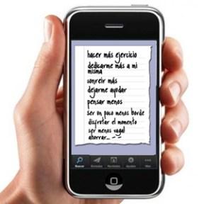 Los estadounidenses planean sus propósitos del año usando su teléfono inteligente