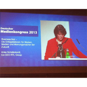 """A. Schäferkordt (RTL) en #MedienKongress: """"A veces está bien no dejarse llevar por las modas"""""""