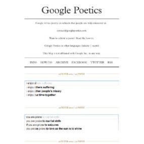 Cuando las búsquedas en Google se convierten en poesía