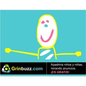 Grinbuzz.com: la web en la que podemos apadrinar un niño a cambio de ver anuncios