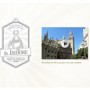 Leo Burnett Bruselas estrena nueva web y viaja hasta Sevilla para que San Isidoro, el patrón de internet, la bendiga