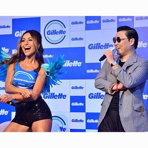 """Indignación ante la imagen de Psy en una campaña de Gillette que """"discrimina a los hombres con pelos en el pecho"""""""