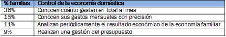 Sólo el 15% de los españoles conoce sus gastos mensuales con precisión
