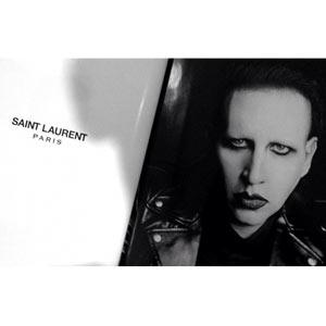 Saint Laurent añade un punto rebelde a su marca de la mano del rockero Marilyn Manson